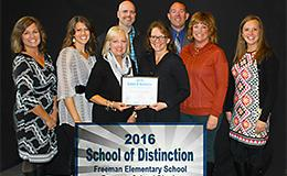 Freeman Elementary School of Distinction 2016